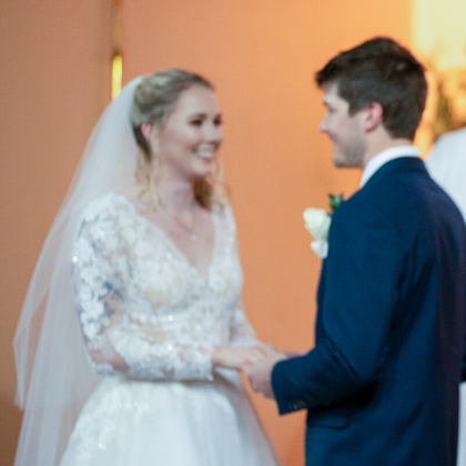 bride and groom church ceremony