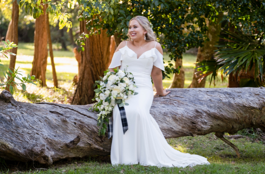 bride on log - Sublime Point in Wollongong