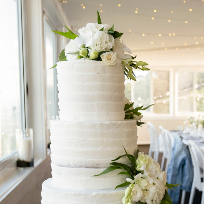 Three tiered cake Sublime Point Wedding