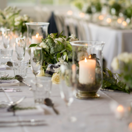 Sublime Point Wedding Table Setting