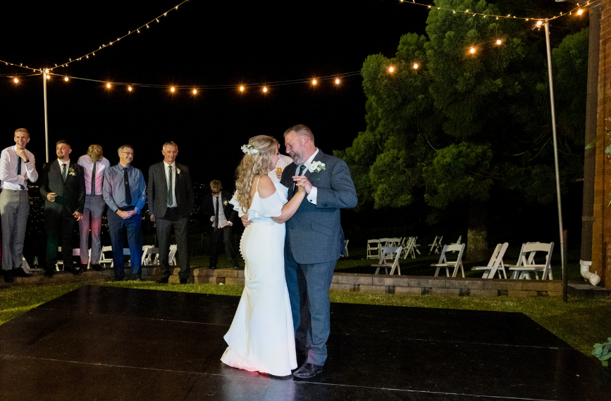 Father and daughter dance Sublime Point wedding